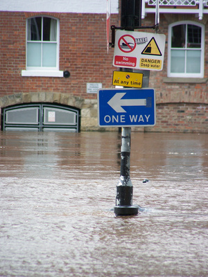flooded warning signs
