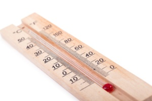 Atmospheric wooden thermometer