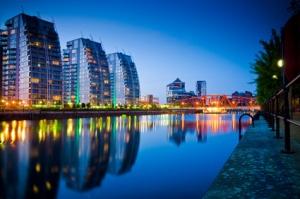 19- three buildings and bridge salford quays