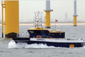 wind power support boat