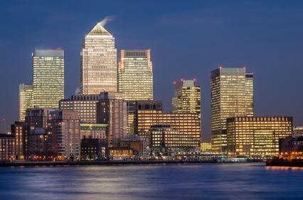 London, Canary Wharf (blue hour)