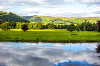 British landscape in Summer