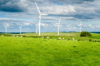 Wind Turbines for Generation of Renewable Energy in the Countryside of England