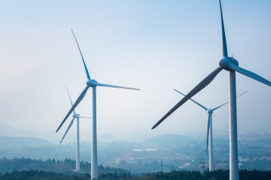 wind farm closeup