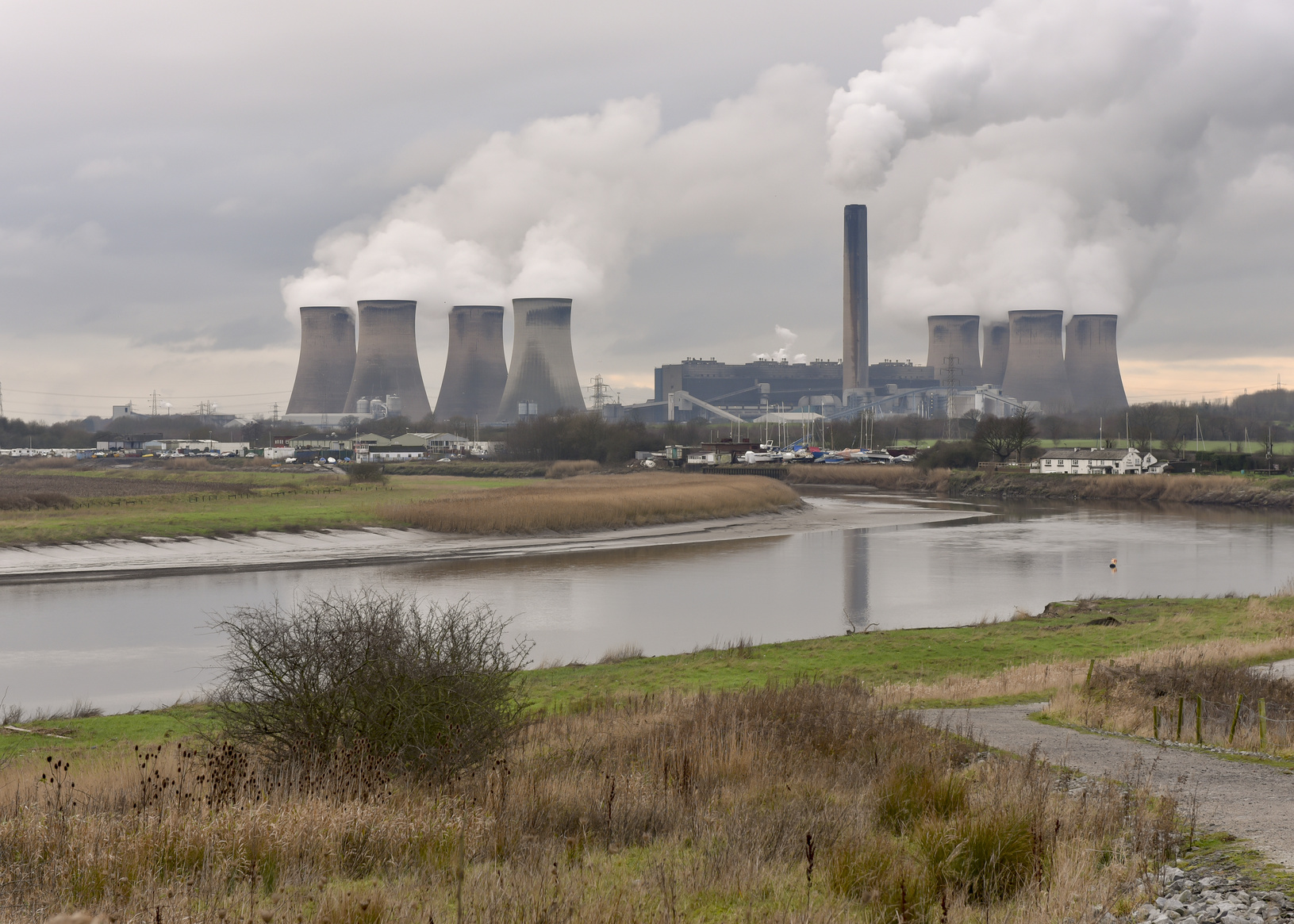 Power station from the Mersey River