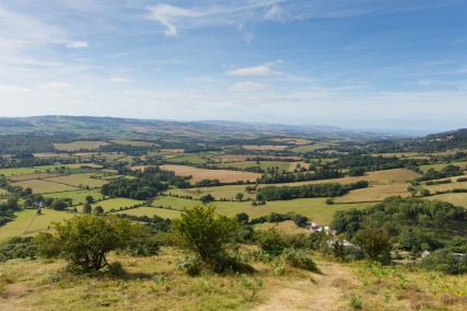 View from the Quantock Hills Somerset England