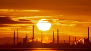 Sunrise at Stanlow Oil Refinery heralding an Industrial Dawn